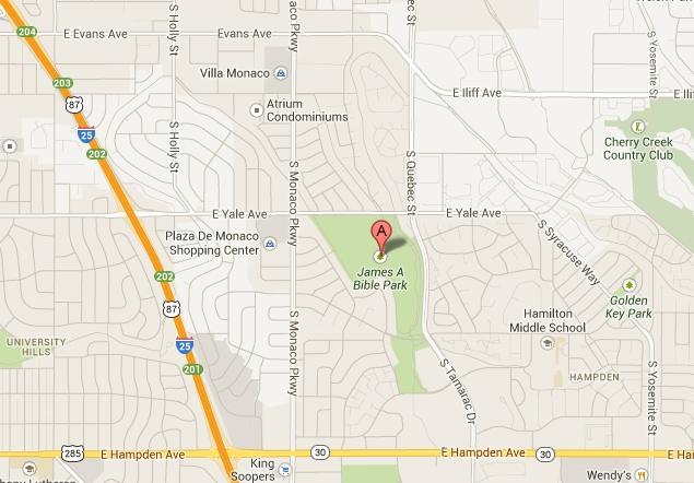 Map Of The Bible Park Denver Neighborhood