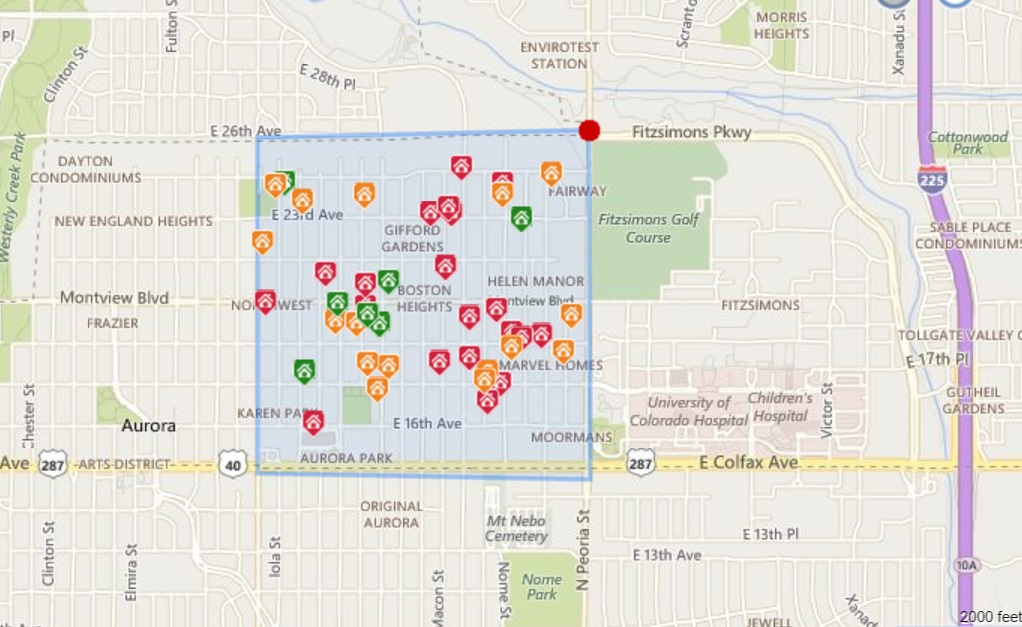 Anschutz Medical Center - Downtown Aurora Map