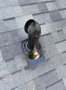 Denver Radon Mitigation System Roof Picture