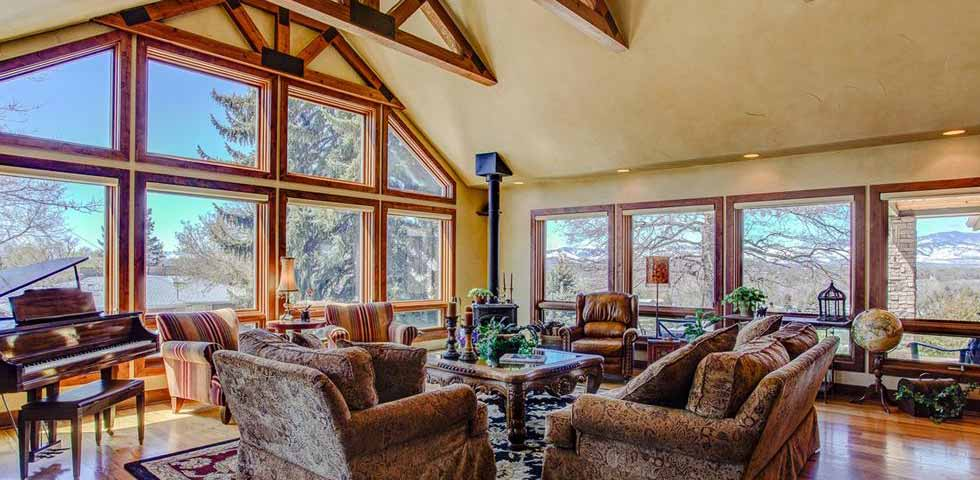 living room mountain views Nate Belote RE/MAX
