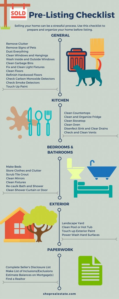 Pre Listing Checklist 410x1024 Pre Listing Checklist for Home Sellers   Infographic