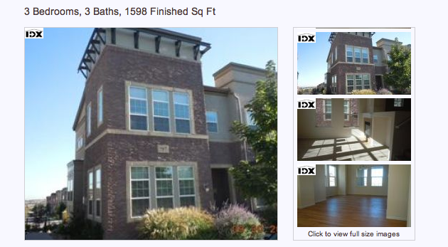brook Home in The Brownstones, Highlands Ranch for just 3% down and no appraisal costs