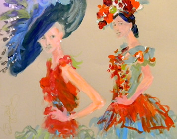 2WomenwithHats Newberg Art Walk Tonight with Artist Elizabeth Berg