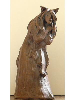 cat girl sculpture 1 Newberg Art Walk Tonight with Artist Elizabeth Berg