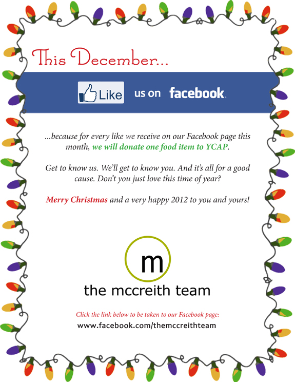 TMT Facebook20111 Like Us on Facebook! This December we donate to YCAP for every Like we receive.