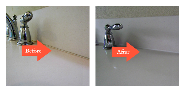 Caulk Repair Before After Home Staging 101