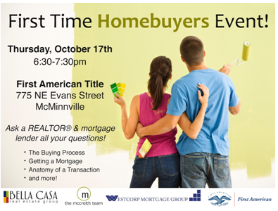 homebuyer First Time Homebuyers Event 10/17