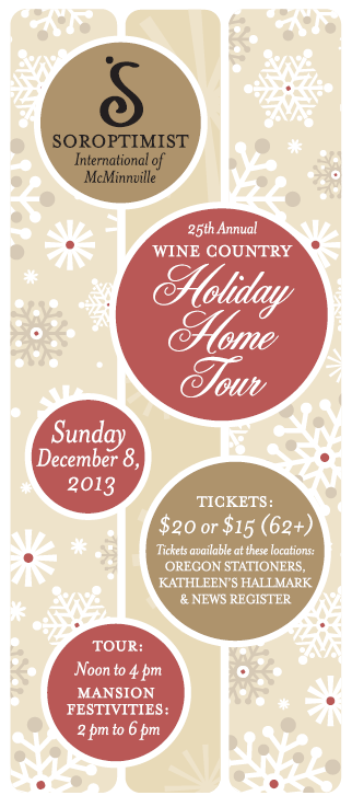 soroptomist 25th ANNUAL WINE COUNTRY HOLIDAY HOME TOUR