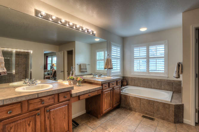 6934 South Fultondale Circle small 031 10 Master Bath 666x444 72dpi Just Listed by Jo Pellegrino in Tallyns Reach! 6934 S Fultondale Cir Aurora, CO 80016