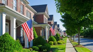 american flag neighborhood 300x169 Number one mistake Veterans make when buying a home