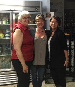 Judy Barrow of AICS, Kara, and Arin.  October 2nd, 2015