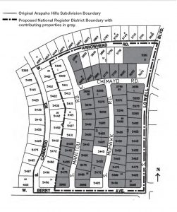 ArapahoHillsMap 251x300 Mid Mod Homes in Littleton