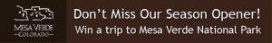 The Spring Free Mesa Verde Trip Contest