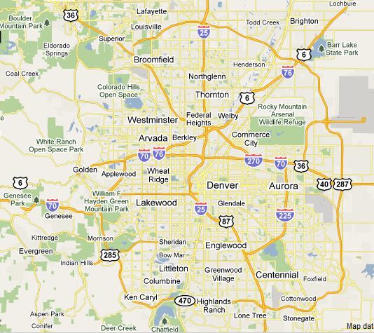 Metro Denver Map.Denver Metro Julie Reddington Real Estate