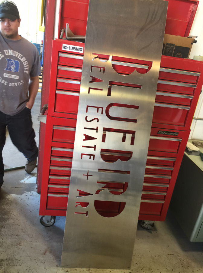 Our new sign is almost ready to be installed!
